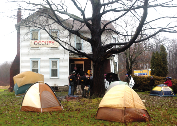 Occupy Cleveland supports foreclosure evicted Orwell homeowner
