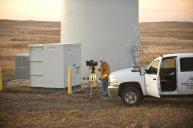 Dave at Turbine base Dakota