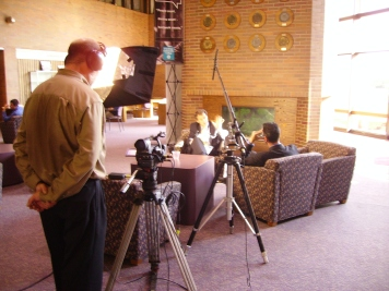 Media Magic shooting interviews for Political Documentary