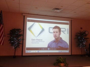 Cristal Global 'Cristal and Manufacturing' video presented at company event.