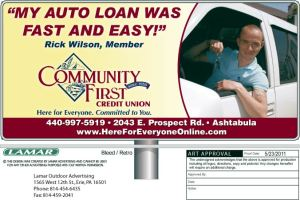 CFCU Bill Consilidation Loans Newspaper Ad