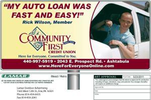 CFCU Bill Consilidation Loans Newspaper Ad