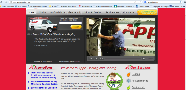 Apple Heating Website with Service video 1