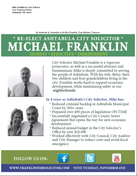 Franklin for Solicitor Flyer Back