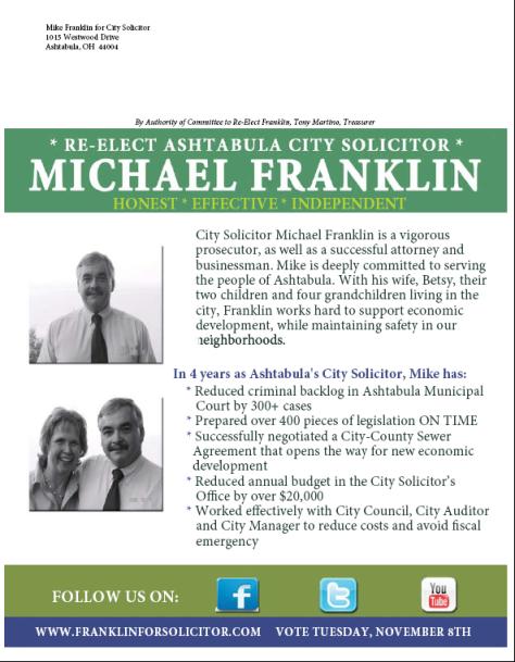 Franklin for Solicitor Flyer Back