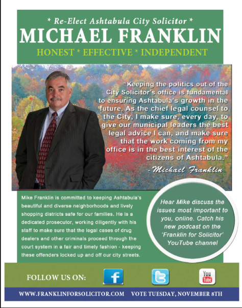 Franklin for Solicitor Flyer Front