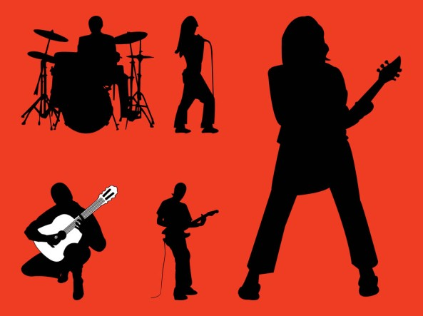 Rock-Band-Silhouettes
