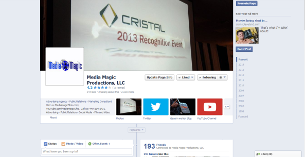 Media Magic Facebook Screen Capture 042814