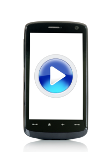 SmartPhone with video symbol